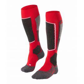 Falke, ski socks grey/red