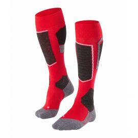 Falke, ski socks red