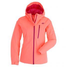 4F, H4Z20-KUDN003 ski jacket women salmon coral neon pink