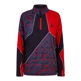 Spyder, Divide pullover kids network print grey/red