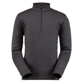 Spyder, Prospect Zip T-Neck, pullover, men, ebony grey
