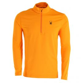 Spyder, Prospect Zip T-Neck, pullover, men, flare orange