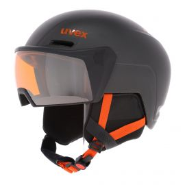Uvex, Hlmt 700 visor ski helmet with visor dark slate grey