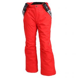 CMP, ski pants kids ferrari red