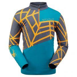 Spyder, Vital zip T-neck, pullover, men, swell blue/orange