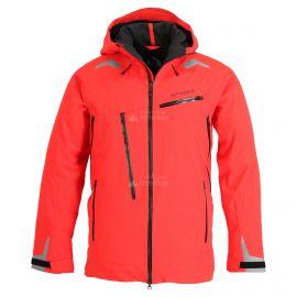 Spyder, Hokkaido GTX, ski jacket, long model, men, volcano red