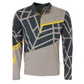 Spyder, Vital zip T-neck, pullover, men, alloy grey