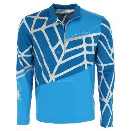 Spyder, Vital zip T-neck, pullover, men, lagoon blue