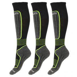 Deluni, 3 pair, ski socks, black