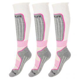 Deluni, 3 paar, ski socks, white