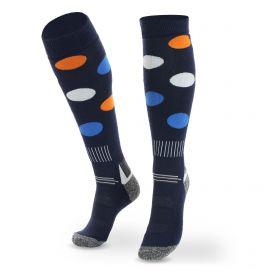 Deluni, Joyride Dots ski socks blue