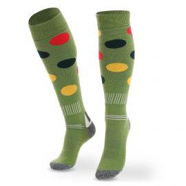 Deluni, Joyride Dots ski socks green