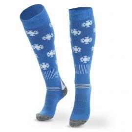 Deluni, Joyride Snowflakes ski socks blue