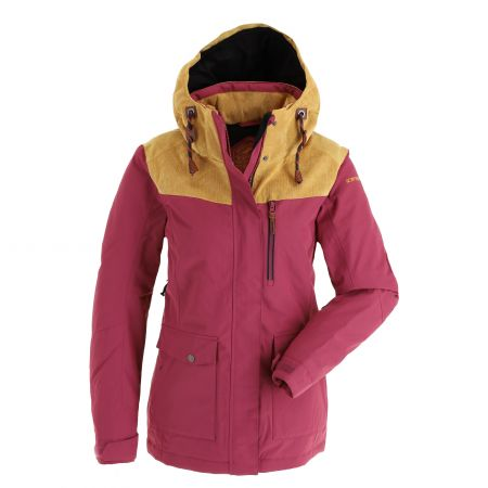 Icepeak, Clario ski jacket women burgundy red