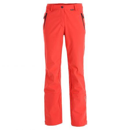 Icepeak, Frechen softshell ski pants short model women coral red