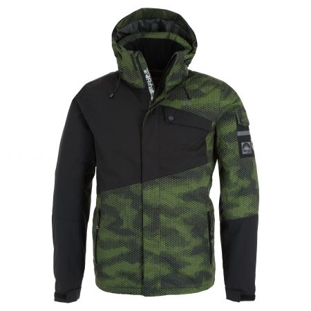 Rehall, Isac-R ski jacket men honeycomb camo cess green