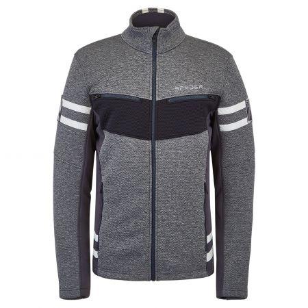 Spyder, Wengen Encore Full Zip jacket men ebony grey
