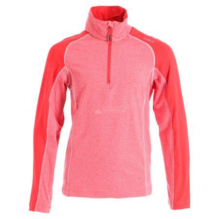 CMP, Half zip shirt melange, pullover, kids, ferrari melange red