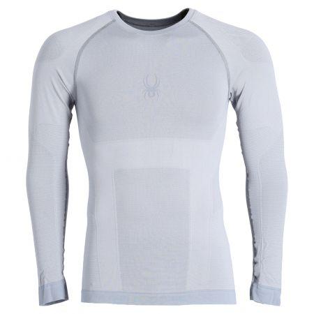 Spyder, Momentum baselayer top, thermal shirt, men, alloy grey