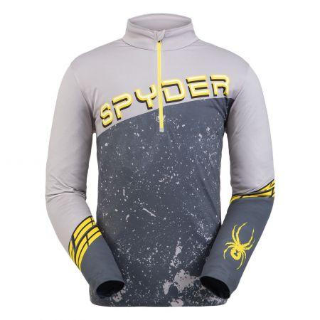 Spyder, Mandate zip T-neck, pullover, men, alloy grey