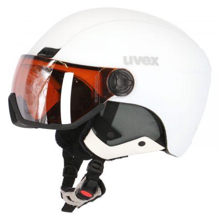 Uvex, Hlmt 400 Visor Style ski helmet with visor OTG white
