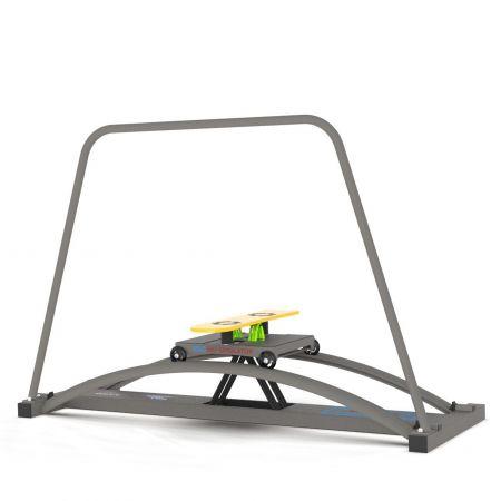 Pro Board Simulator, snowboard machine, grey