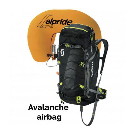 Scott, Air Free Alpride 30 Kit Pack lawine airbag rugzak, Zwart (Ski muts masker hoofdband toverband)