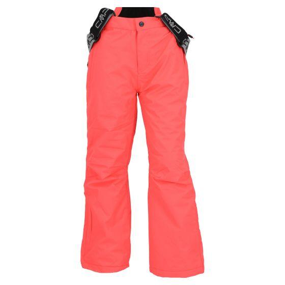 CMP, ski pants kids fluo red
