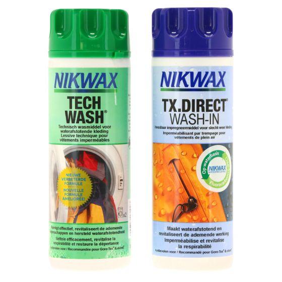 Nikwax,  Duopak Tech Wash en TX.DIRECT Wash-in, 2 x 300 ml, washing and impregnating detergent, maintenance product