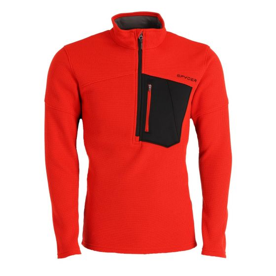 Spyder, Bandit Half Zip sweater men volcano red