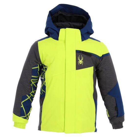 Spyder, Challenger ski jacket kids lime green