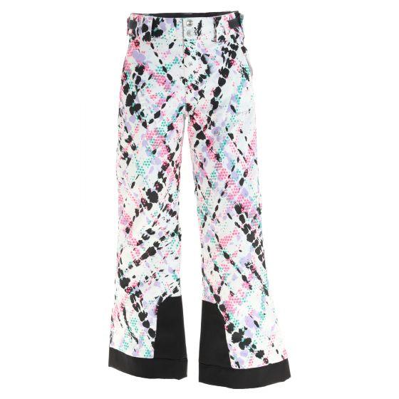 Spyder, Olympia ski pants kids impress print white