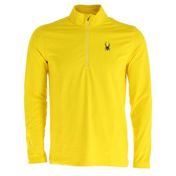 Spyder, Prospect Zip T-Neck, pullover, men, sun yellow