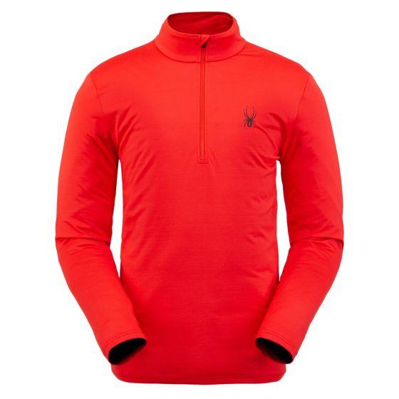 Spyder, Prospect Zip T-Neck, pullover, men, volcano red