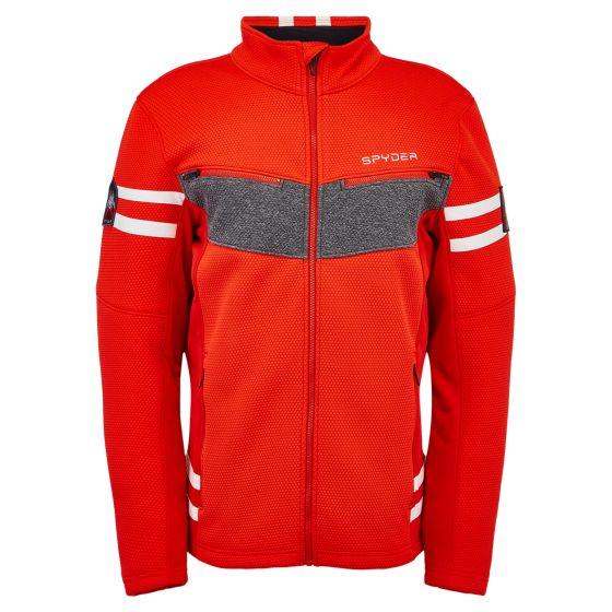 Spyder, Wengen Encore Full Zip jacket men volcano red