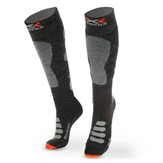 X-socks, SKI SILK MERINO 4.0, ski socks, grey