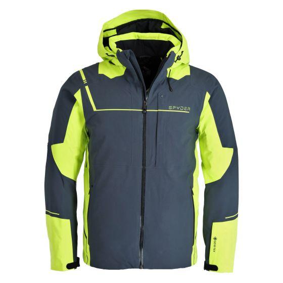 Spyder, Titan GTX ski jacket men ebony grey/green