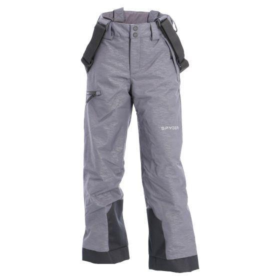Spyder, Propulsion, ski pants, kids, Linear emboss print grey