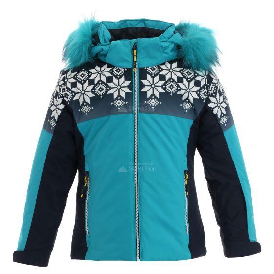 CMP, Ski jacket snaps hood, ski jacket, kids, curacao blue ...
