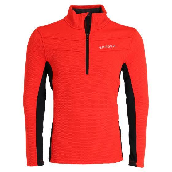 Spyder, Encore halfzip fleece, sweater, men, vulcano red