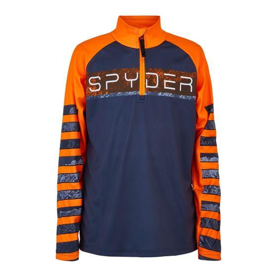Spyder, Peak pullover kids abyss grey/orange