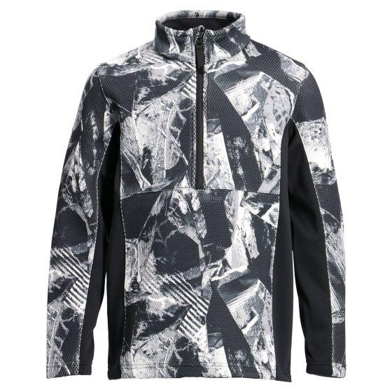 Spyder, Encore half zip, sweater, kids, Frozen in time print grey