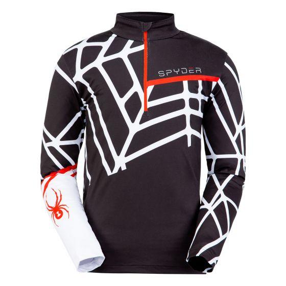 Spyder, Vital zip T-neck, pullover, men, white/black
