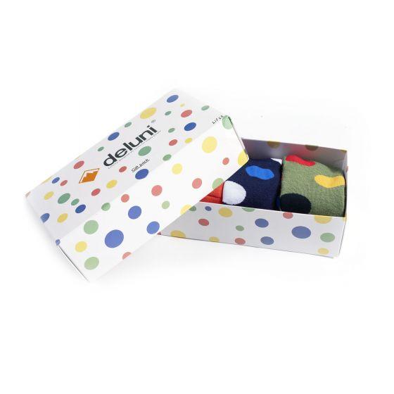 Deluni, Socks in a Box Joyride Dots (giftbox) ski socks multicolor