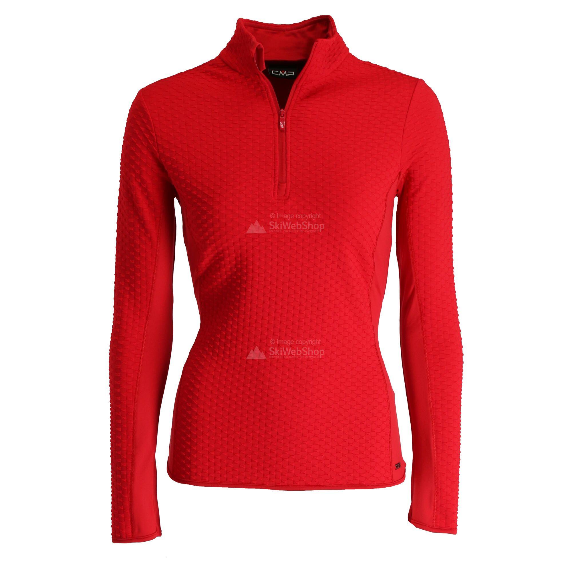 Cmp Half Zip Shirt Pullover Women Ferrari Red Skiwebshopskiwebshop Com