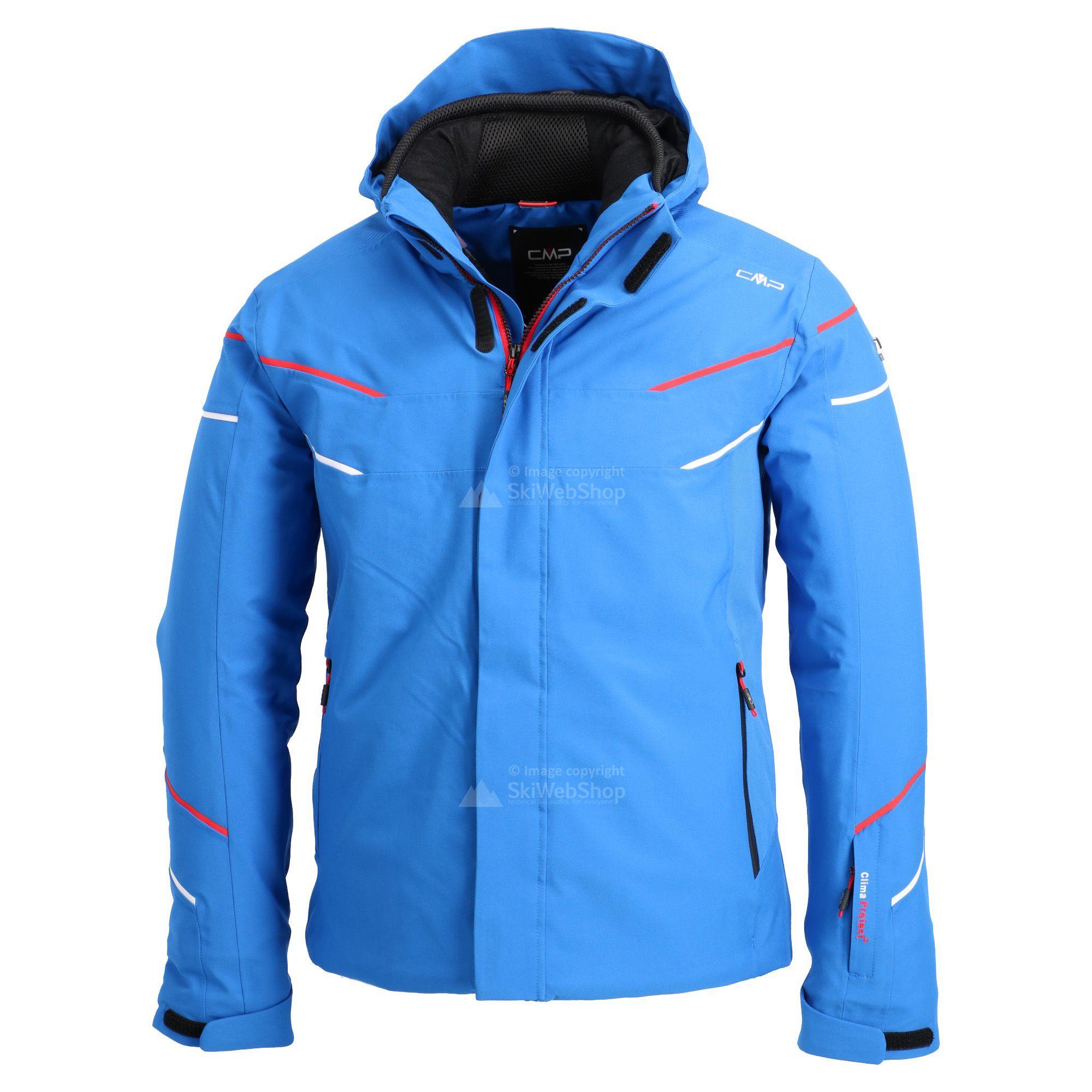 Cmp Ski Jacket Men Royal Blue Ferrari Red White Skiwebshopskiwebshop Com