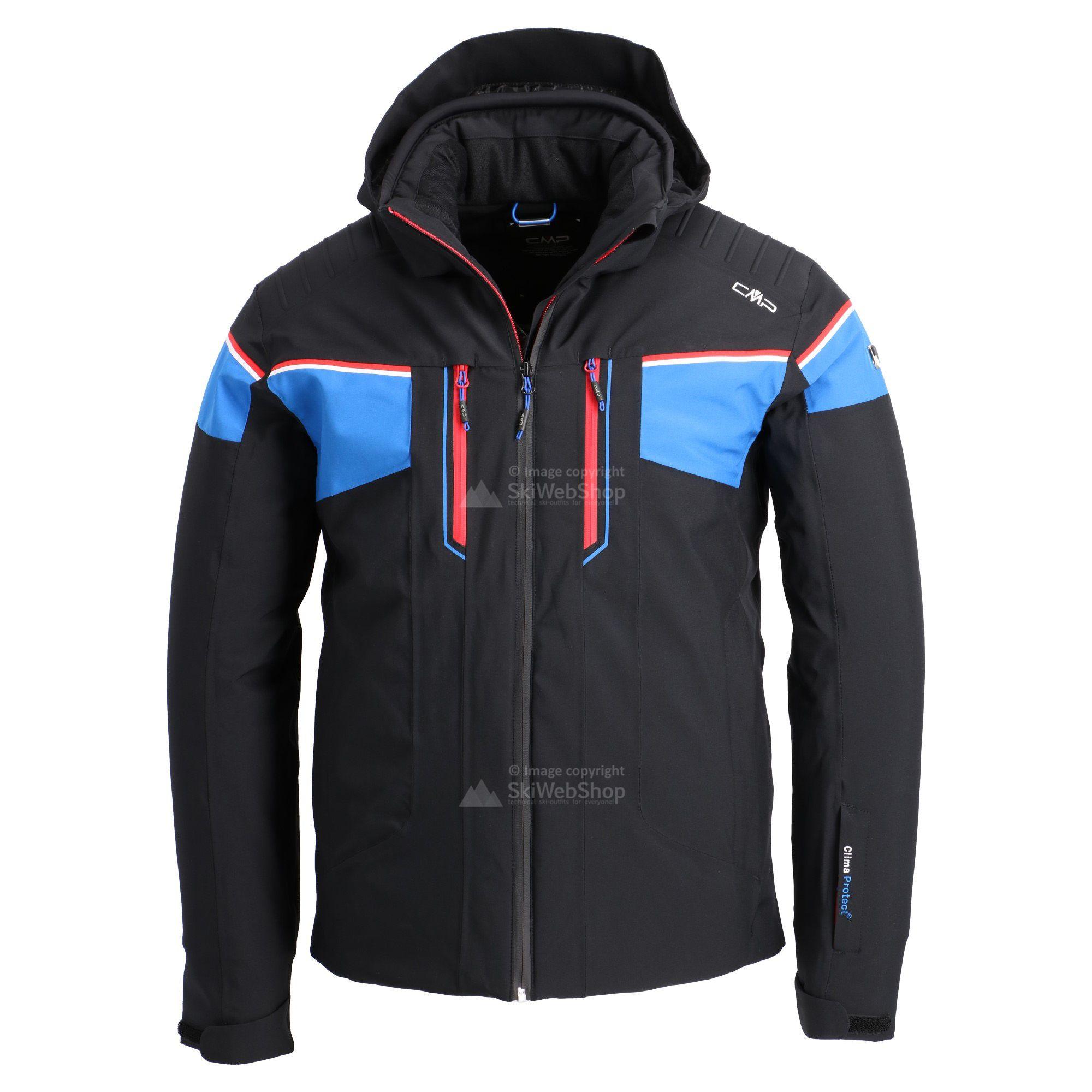 Cmp Ski Jacket Men Black Royal Blue Ferrari Red White Skiwebshopskiwebshop Com
