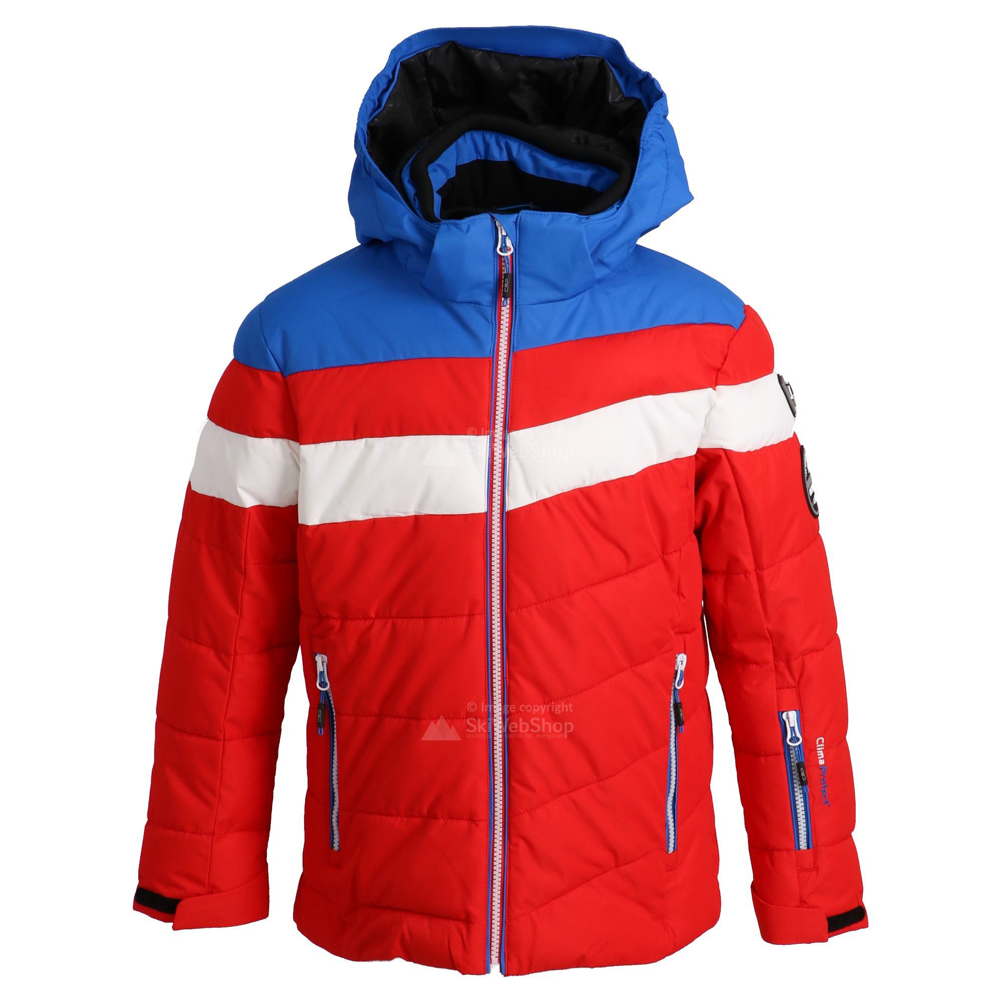 Cmp Ski Jacket Kids Ferrari Red White Royal Blue Skiwebshopskiwebshop Com