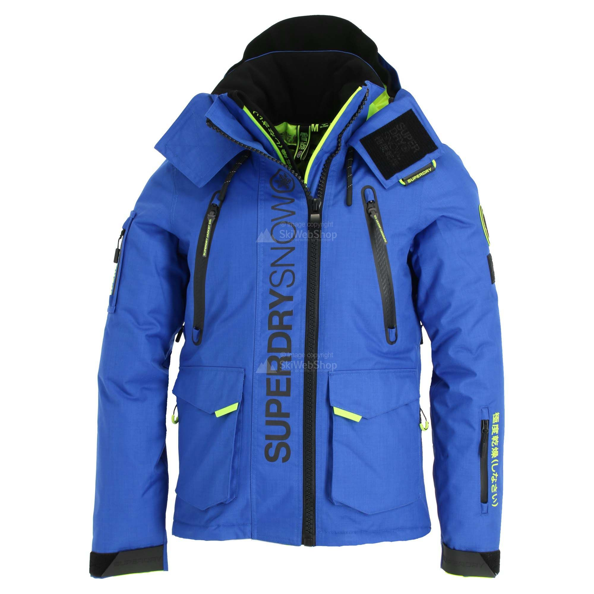 Superdry Ultimate Snow Rescue Ski Jacket Men Cobalt Blue Skiwebshopskiwebshop Com