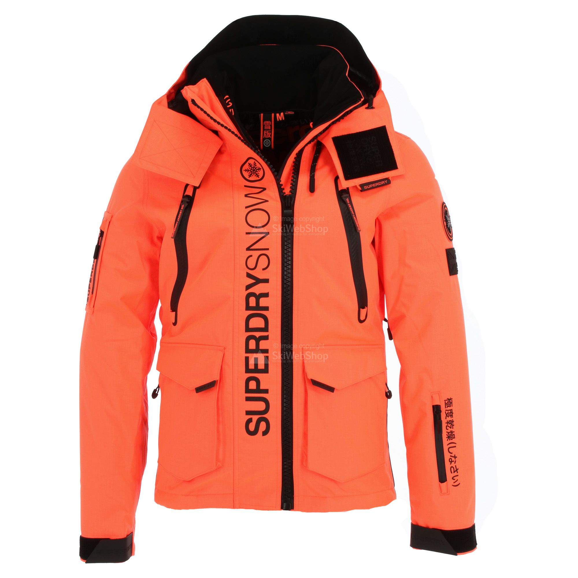 Superdry Ultimate Snow Rescue Ski Jacket Men Hyper Orange Skiwebshopskiwebshop Com